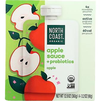 North Coast Apple Sce Pbiotic Pouch, Case of 6 X 12.8 Oz
