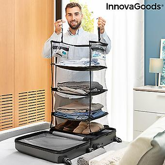 Sammenleggbar, bærbar, hylleenhet for organisering av bagasje Sleekbag InnovaGoods
