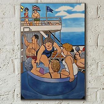 Azulejo 8x12 Crucero 1 Por Beryl Cook Wall Art