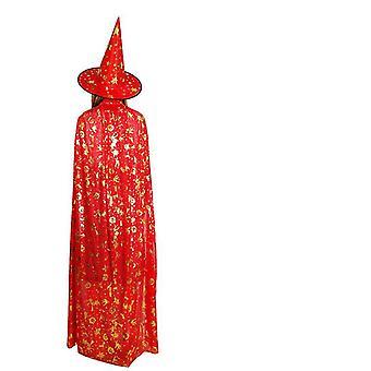 Vampires Hat Cloak Medieval Cloak Witch Cloak Masquerade Cape Halloween Costumes(120cm)
