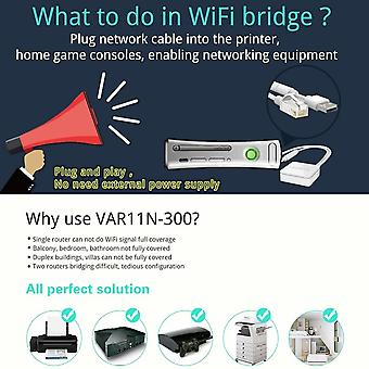 Var11n-300 Mini Wifi Wireless 300mbps Networking Router Wifi Bridge Repeater