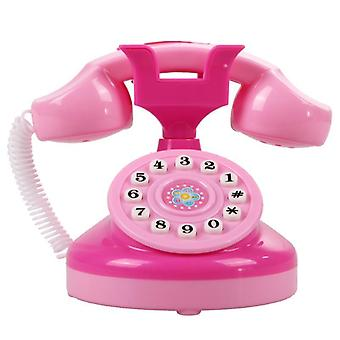 Plastic Pink Phone Toy Educational Phone Pink Phone Pretend Play