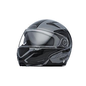 Spada Avsløre Tracker Motorsykkel hjelm Flip Front Anthracite Svart