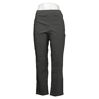 MarlaWynne Women's Pants Reg FLATTERfit Gray 743120