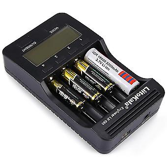 Power adapters chargers smart universal charger with lcd display for li ion/nimh/nicd batteries sm156574