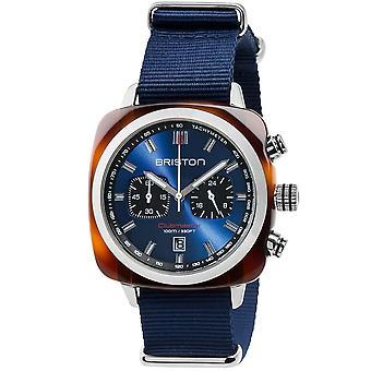 Briston 17142.sa.ts.9.nnb Mens Clubmaster Sport Kronograf Navy Blue Nylon Klocka