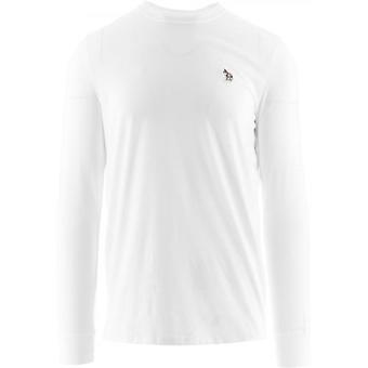 Paul Smith White Long Sleeve Zebra T-Shirts