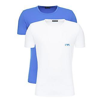 Men's Short Sleeve T-Shirt Armani Jeans 111670 9P715 14210 White (2 pcs)