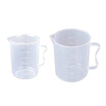Gennemsigtig målecylinder, køkkenbageredskaber, 250 ml,500 ml, 2 stykker