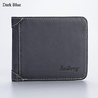 Men Wallet Leather Business Foldable Wallet Luxury Billfold Slim Hipster Cowhide Credit Card/id Holders Inserts Coin Purses