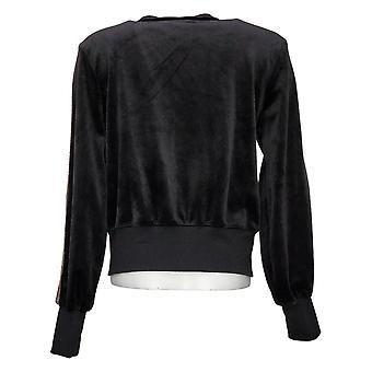 Skinnygirl Women's Lighweight Zip-Up Jacket Black 681086