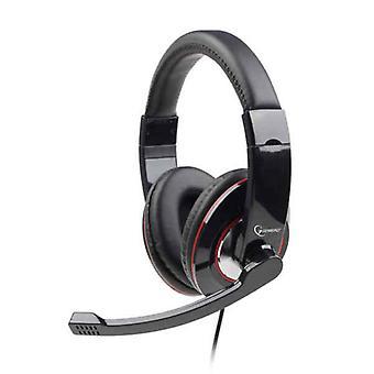 Headphones with Microphone GEMBIRD MHS-00 Black