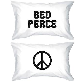 الحجم القياسي وسادات مضحك 20 x 31-السلام سرير ورمز السلام