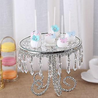 Decorative trays multifunctional classic style tray with crystal pendants 31cm