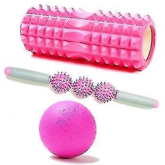 Verlengde Eva Yoga Kolom Foam Shaft Fascia Ball Suit (Rose Pink)