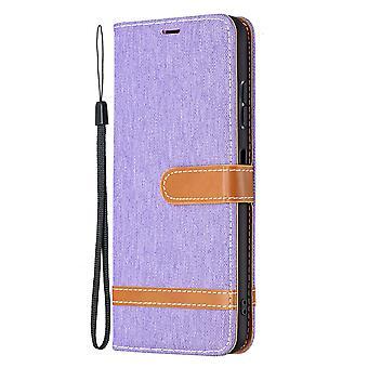 Folio Flip Cover Skórzany futerał na Samsung Galaxy A22 5g Violet Jeans