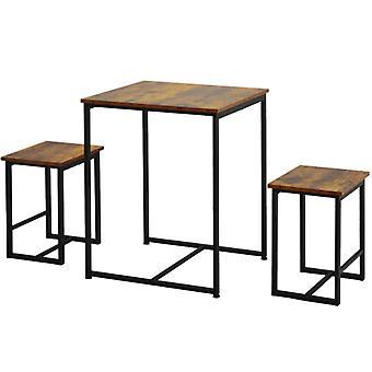 2スツール付きダイニングテーブル