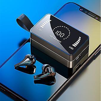 Bluetooth-hörlurar led display öronsnäckor med Power Bank Chagring Case