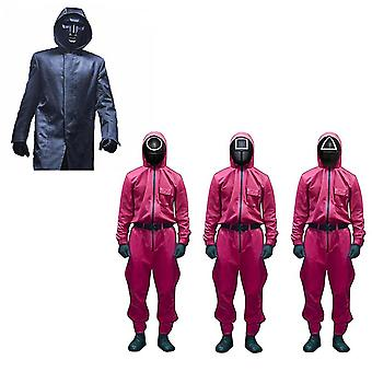 Squid Game Cosplay Costume Party Carnival One-piece Mask Four-piece Suit Squid Game