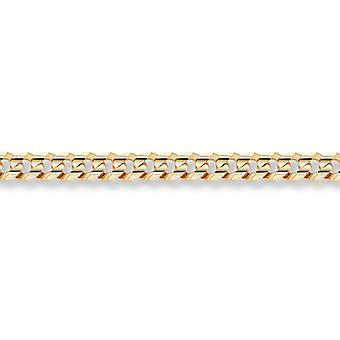 14K Gold 6mm Curb Bracelet