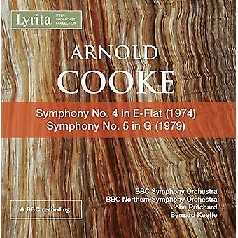 Cooke / BBC Symphony Orchestra / Keeffe - Cooke: Symphonies Nos. 4 & 5 [CD] USA import