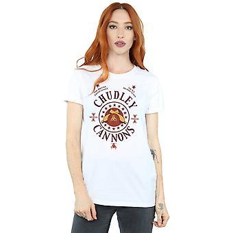 Harry Potter Women's Chudley Cannons Logo Boyfriend Fit T-Shirt