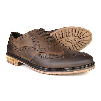 Silver Street London Central Mens cuir marron pays Brogues