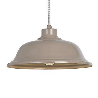 Endon iluminação Laughton luz ardósia cinza pingente luz com cinza e branco Flex