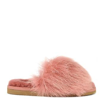 Shepherd of Sweden Tessan Marsala 'pink' Fluffy Slipper