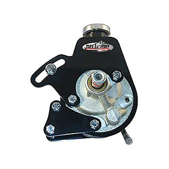 Tuff Stuff 6508B Black Power Steering Pump Bracket for Small Block Chevy