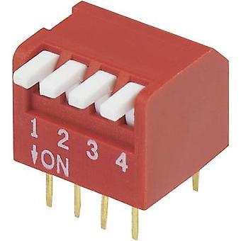 DIP-switch antal stift 4 Piano-sorts TRU komponenter DP-04 1 dator
