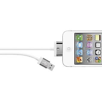 Belkin iPad, iPhone eller iPod Data kabel/laddare leda [1 USB 2.0-kontakt A - 1 x Apple dock plug] 2 m vit