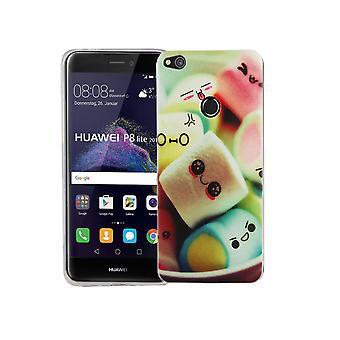 Mobile Shell for Huawei P8 Lite 2017 dækning case beskyttende taske motiv slim TPU + rustning beskyttelse glas 9 H Bogstavernes skumfiduser