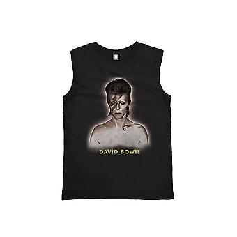 Amplified David Bowie World Tour '72-'73 Tour Black Vest XS