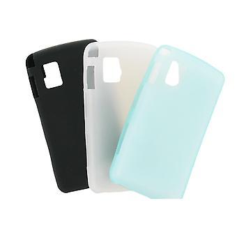Multipack Premium Gel Case Compatible with CU920 Vu (Light Blue, White Black)