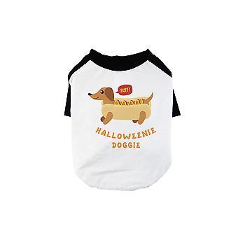 Halloweenie Hund Haustier Baseball-Shirt für kleine Hunde