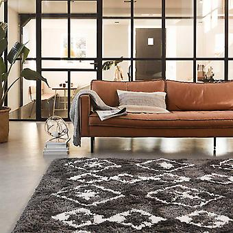 Boho y Ayachi Scandic alfombras 5967 095 en antracita blanco