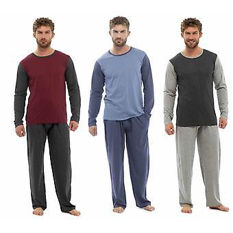 Tom Franks Mens Jersey Cotton Two Tone Nightwear Pyjamas Lounge Wear