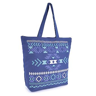 Naisten kesä Aztec-Print kangas Design ranta-allas-uimaan-Tote-ostokset suuri laukku