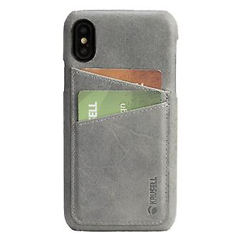 Krusell Sunne leather cover cover for Apple iPhone X / XS 5.8 leather protective case cover gray
