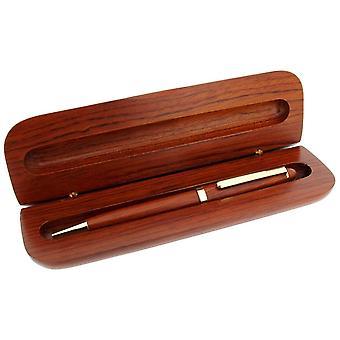 Gave tid produkter slank kulepenn og Box - mørk brun/gul