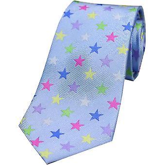 David Van Hagen tähden silkki solmio - Sky Blue