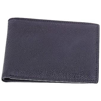 David Van Hagen Plain Leather Wallet - Black