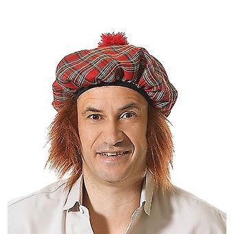 Bnov schottischen Tartan Hut/Ingwer Haar