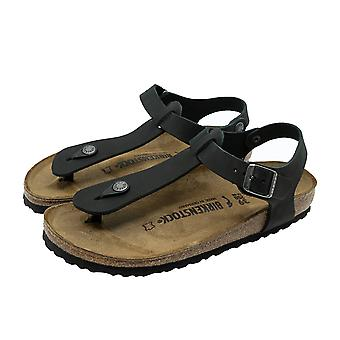 El Birkenstock Cairo sandalia n flip-flops zapatos mujer verano cuero negro nuevo