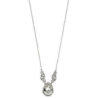 Delar Silver Swarovski bröllopsbutiker halsband - Silver