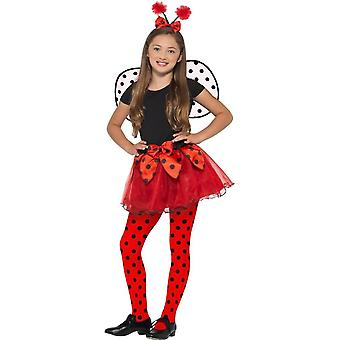 Ladybird Kit,Tutu Wings & Headband,Kids Animal Fancy Dress,Age 7-9