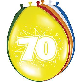 Ballons colorés ballon numéro anniversaire 70 8 ballons St. décoration fête