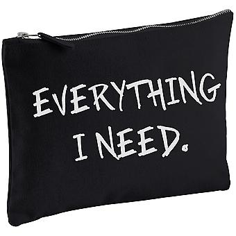 Tot ce am nevoie negru Canvas alcătuiesc bag
