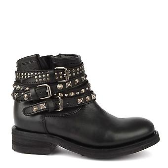 Ash Footwear Tatum Black Leather Studded Boot